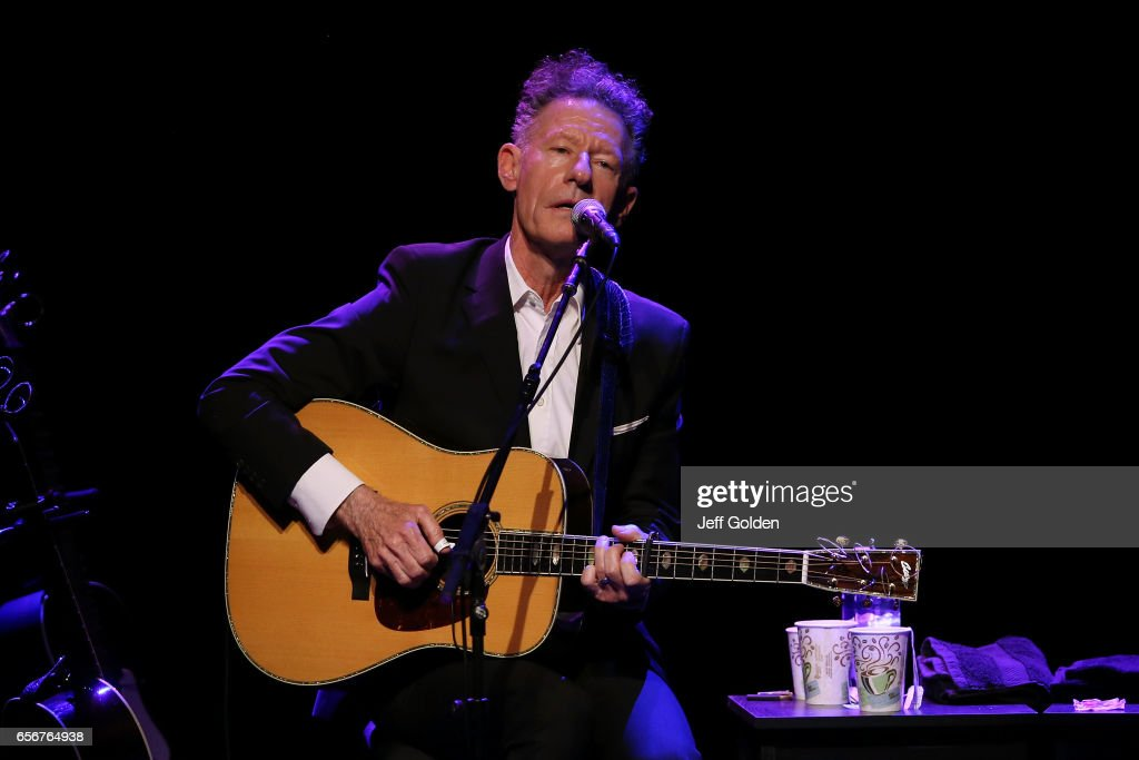 Lyle Lovett performs in support of the 'Songs and Stories Tour' at Fred Kavli Theatre on March 22, 2017 in Thousand Oaks, California.