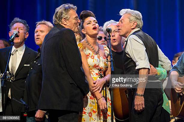 Lyle Lovett Terry Allen Angaleena Presley Radney Foster and Joe Ely perform at Ryman Auditorium on August 16 2016 in Nashville Tennessee
