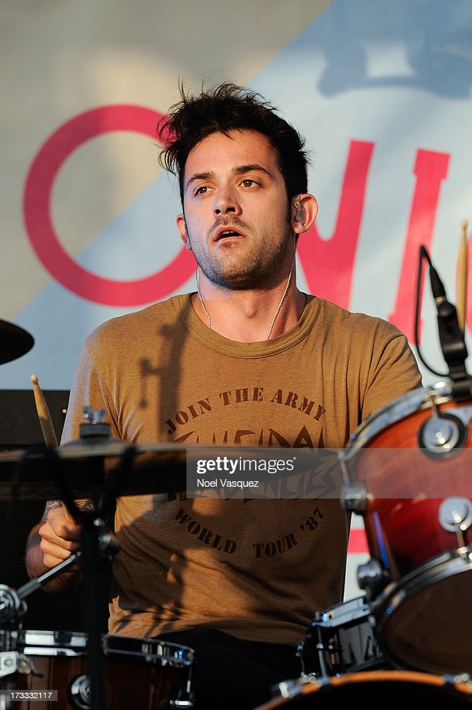 Lyle Riddle of Terraplane Sun performs at KCRW's Twilight Concert Series on July 11, 2013 in Santa Monica, California.