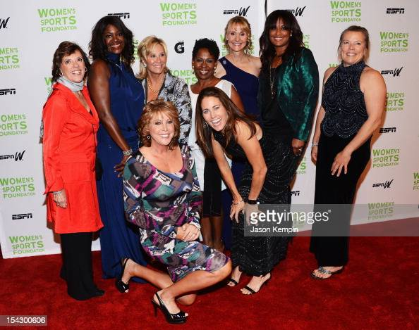 Lyn St James Benita Fitzgerald Mosley Nancy Lieberman Donna de Varona Wendy Hilliard Julie Foudy Nancy HogsheadMakar Laila Ali and Dawn Riley attend...