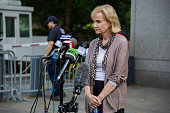 Lyn Ulbricht mother of Silk Road creator Ross Ulbricht speaks to the media after the sentencing of their son outside of Federal Court in New York US...