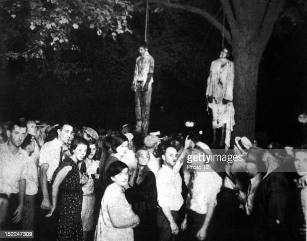Lynching of two black men in Marion Indiana United States New York Schomburg Center
