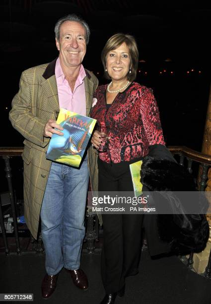 Lynda Bellingham and husband Michael in the Tapis Rouge bar during the opening night of Varekai by the Cirque Du Soleil at Royal Albert Hall in London