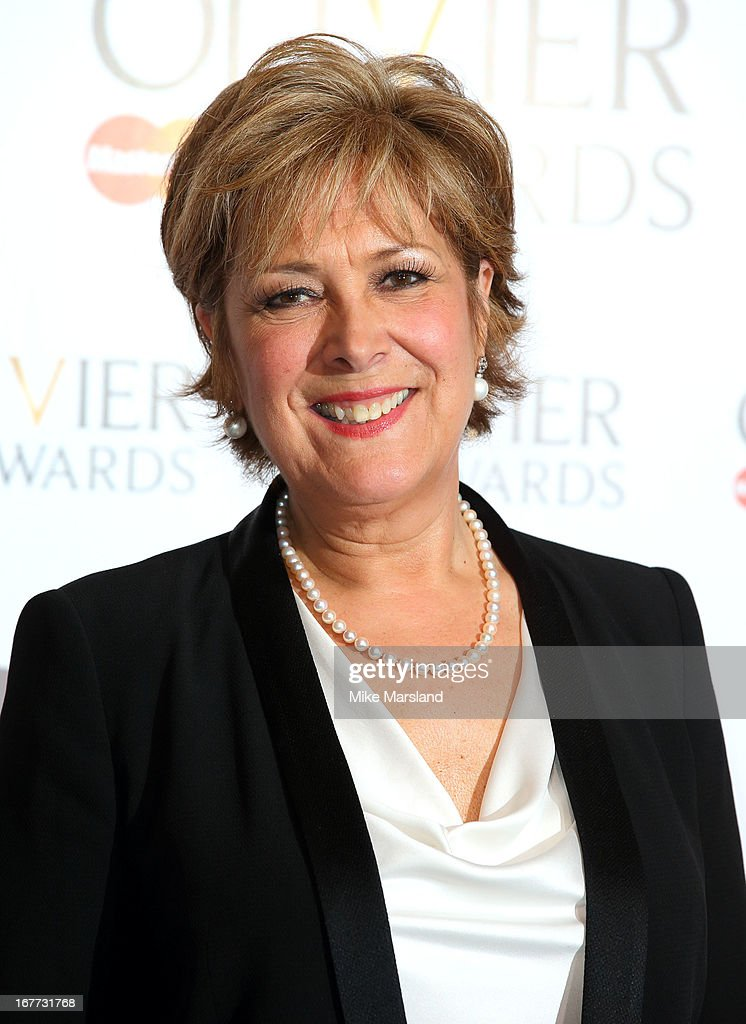 <a gi-track='captionPersonalityLinkClicked' href=/galleries/search?phrase=Lynda+Bellingham&family=editorial&specificpeople=711430 ng-click='$event.stopPropagation()'>Lynda Bellingham</a> poses in the press room at The Laurence Olivier Awards at The Royal Opera House on April 28, 2013 in London, England.