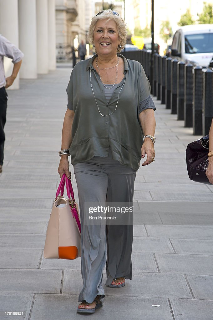 <a gi-track='captionPersonalityLinkClicked' href=/galleries/search?phrase=Lynda+Bellingham&family=editorial&specificpeople=711430 ng-click='$event.stopPropagation()'>Lynda Bellingham</a> sighted at BBC Radio Studios on August 27, 2013 in London, England.