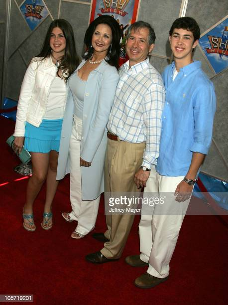 Lynda Carter and family during 'Sky High' Los Angeles Premiere Arrivals at El Capitan in Hollywood California United States
