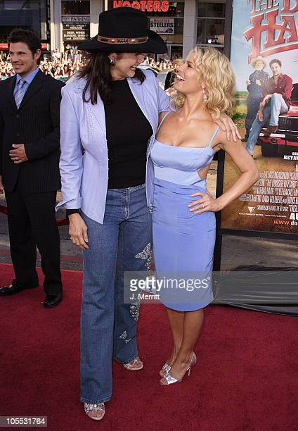 Lynda Carter and Jessica Simpson during 'The Dukes Of Hazzard' Los Angeles Premiere Arrivals at Grauman's Chinese Theatre in Hollywood California...