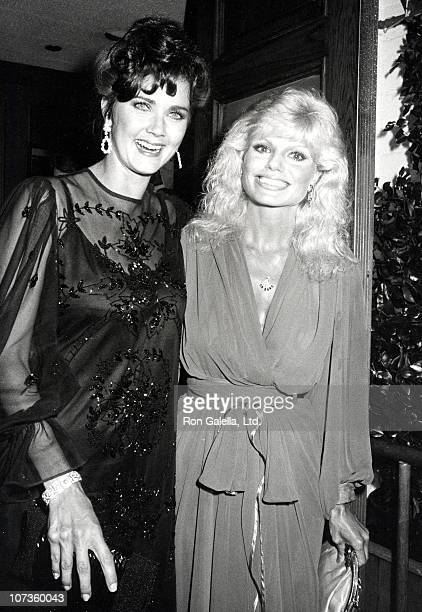 Lynda Carter and Loni Anderson during Loni Anderson and Lynda Carter Sighting at Chasen's Restaurant in Beverly Hills September 15 1983 at Chasen's...