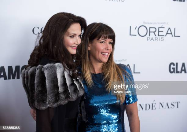 Lynda Carter and Patty Jenkins attend the 2017 Glamour Women of The Year Awards at Kings Theatre on November 13 2017 in New York City