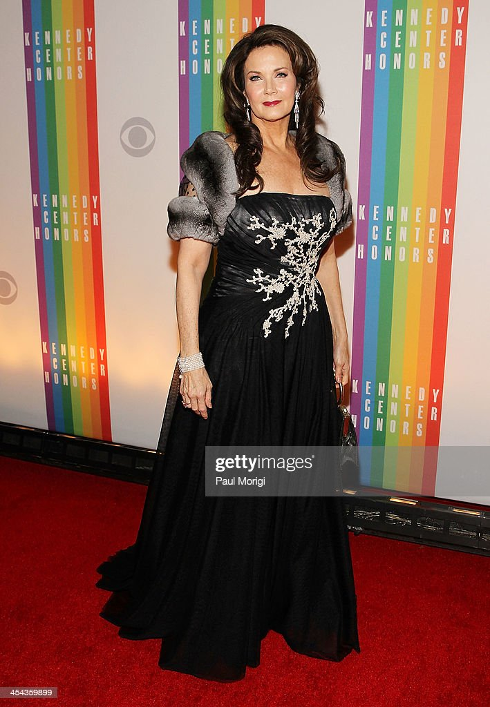 <a gi-track='captionPersonalityLinkClicked' href=/galleries/search?phrase=Lynda+Carter&family=editorial&specificpeople=215112 ng-click='$event.stopPropagation()'>Lynda Carter</a> attends the The 36th Kennedy Center Honors gala at The Kennedy Center on December 8, 2013 in Washington, DC.