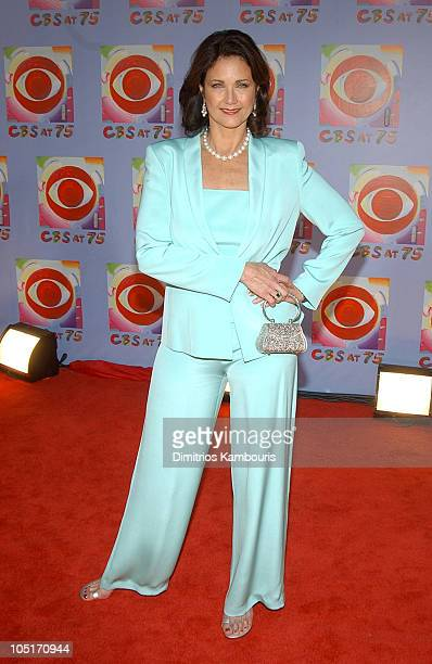 Lynda Carter during CBS at 75 at Hammerstein Ballroom in New York City New York United States