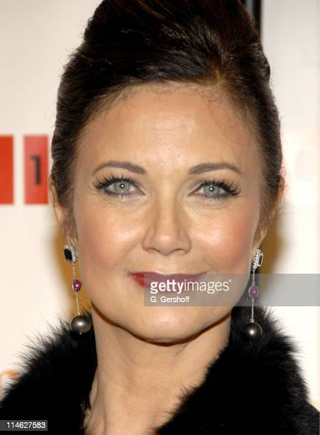 Lynda Carter during Chicago the Musical Celebrates its 10th Anniversary on Broadway Arrivals at Ambassador Theater in New York City New York United...