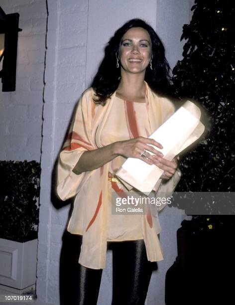 Lynda Carter during Lynda Carter Sighting at Chasen's Restaurant April 20 1980 at Chasen's Restaurant in Beverly Hills California United States