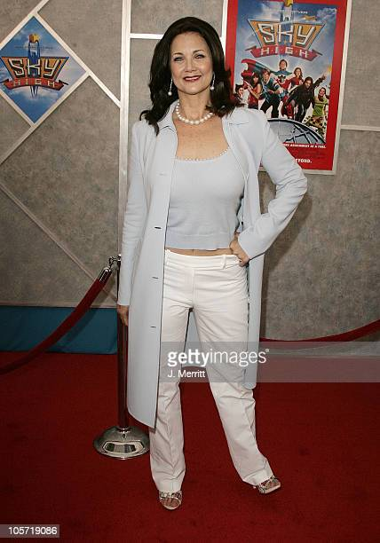 Lynda Carter during 'Sky High' Los Angeles Premiere Arrivals at El Capitan in Hollywood California United States