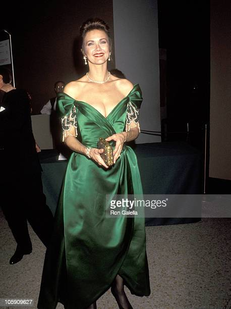 Lynda Carter during The Costume Institute Gala December 9 1991 at Metropolitan Museum of Art in New York City New York United States