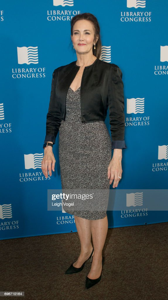 Lynda Carter Visits The Library Of Awesome Pop Up Exhibit