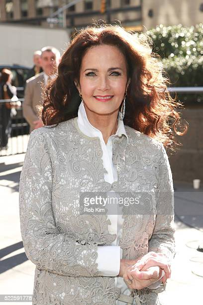 Lynda Carter visits 'FOX Friends' at FOX Studios on April 20 2016 in New York City