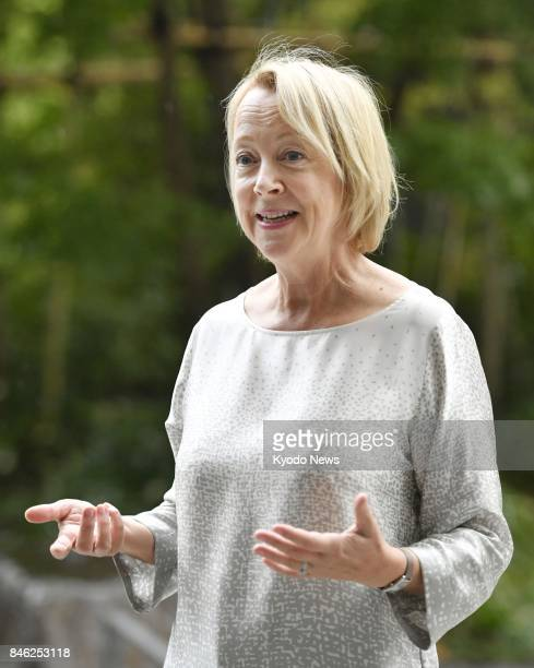 Lynda Gratton a member of Japan's new government panel on human resources for the country's longterm growth answers questions during an interview in...