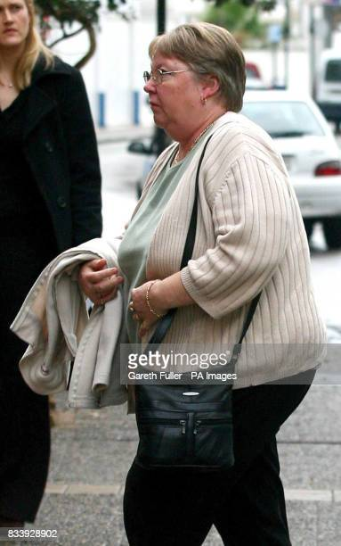 Lynda Kiely motherinlaw and grandmother arrives at the Tossa Beach Hotel in Tossa de Mar Spain where her soninlaw Symon Howlett and grandson Jay...