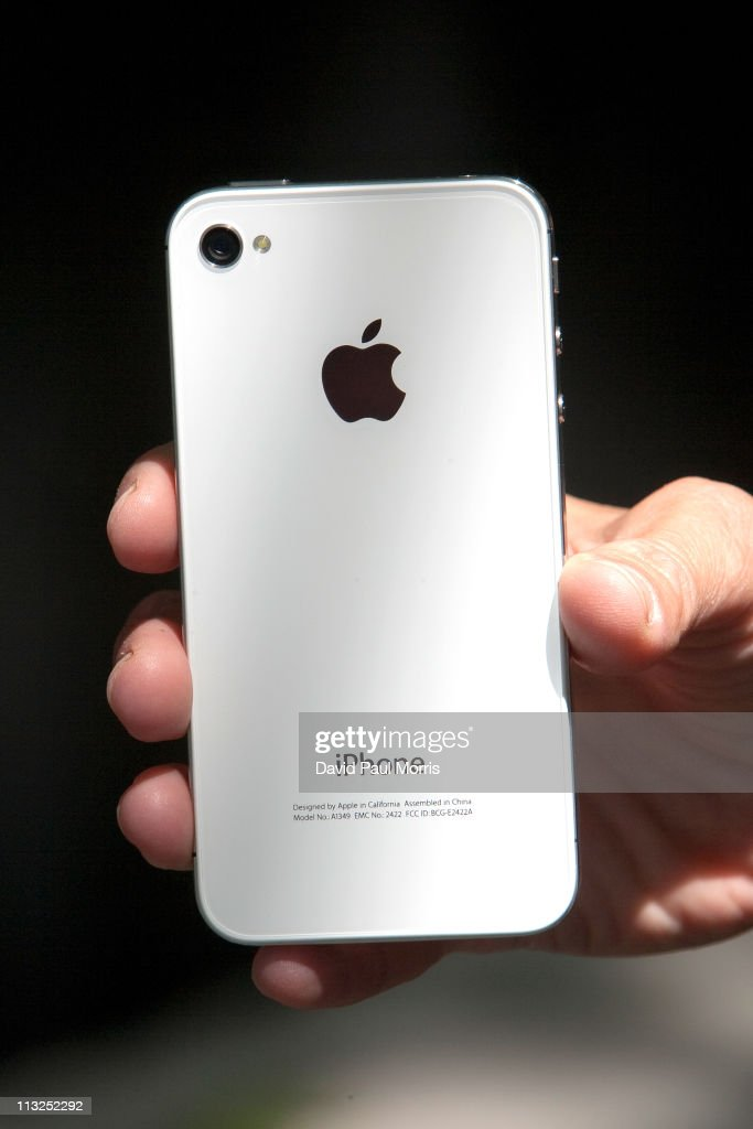 Lynda Malavanya holds her new white iPhone 4 after buying it at the Apple store April 28, 2011 in Palo Alto, California. The long awaited white iPhone, first announced in June of 2010, went on sale worldwide for the first time today.