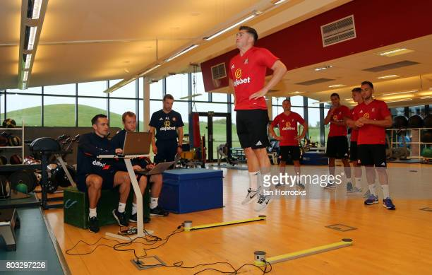 Lynden Gooch of Sunderland AFC during the first day of preseason training at The Academy of Light on June 29 2017 in Sunderland England
