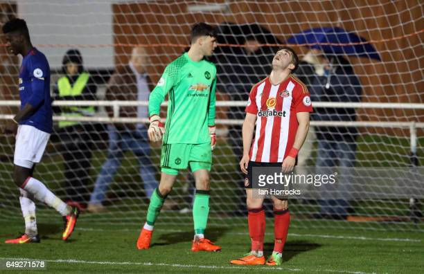 Lynden Gooch of Sunderland during the Premier League 2 match between Sunderland U23 and Manchester United U23 at the Hetton Centre on March 6 2017 in...