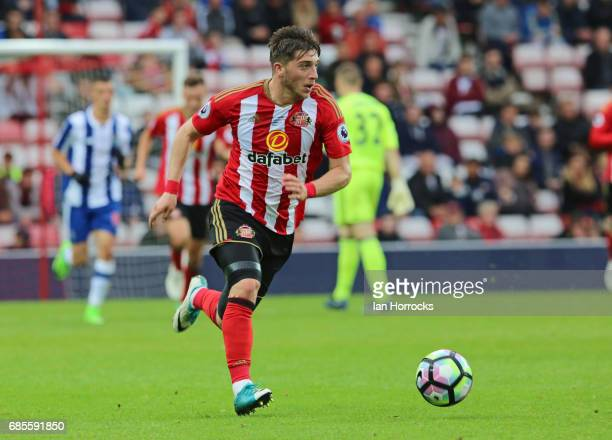 Lynden Gooch of Sunderland during the Premier League International cup Final match between Sunderland and Porto at Stadium of Light on May 17 2017 in...