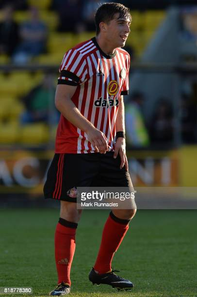 Lynden Gooch of Sunderland in action during the pre season friendly between Livingston and Sunderland at Almondvale Stadium on July 12 2017 in...