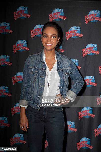 Lyndie Greenwood promotes her starring role in the FOX series 'Sleepy Hollow' at Planet Hollywood Times Square on October 9 2015 in New York City