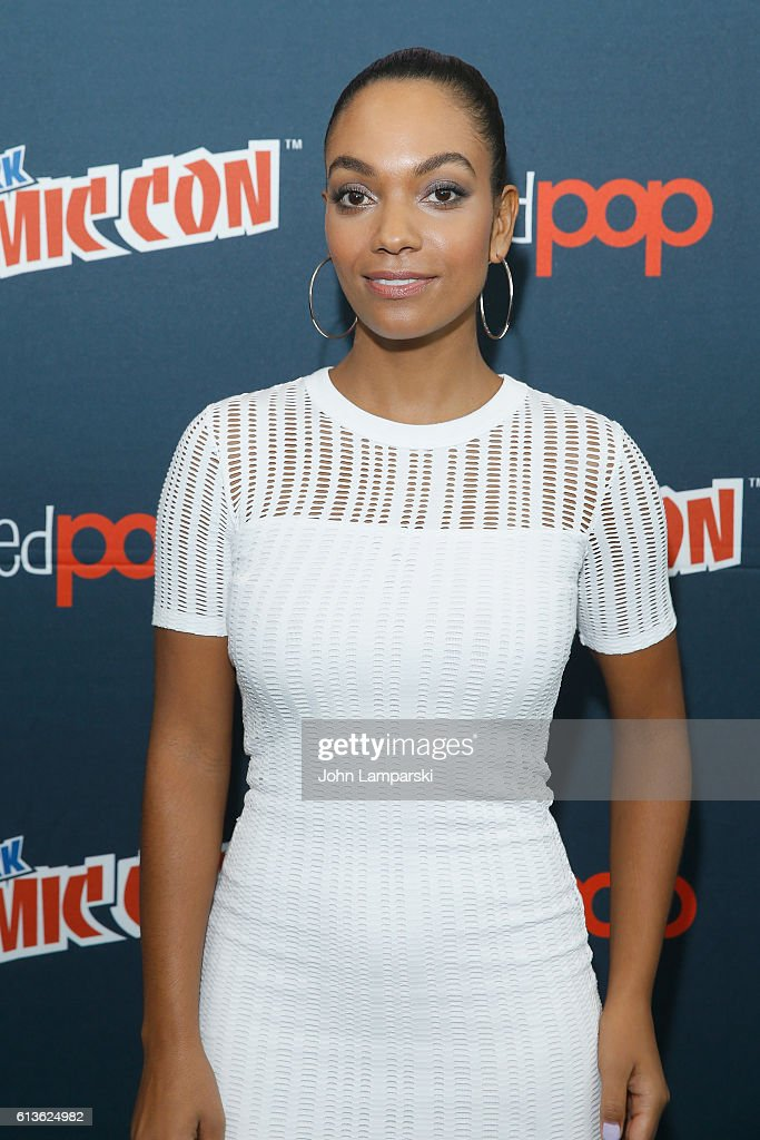 Lyndie Greenwood speaks onstage at the Sleepy Hollow Press Room during 2016 New York Comic Con at The Javits Center on October 9, 2016 in New York City.