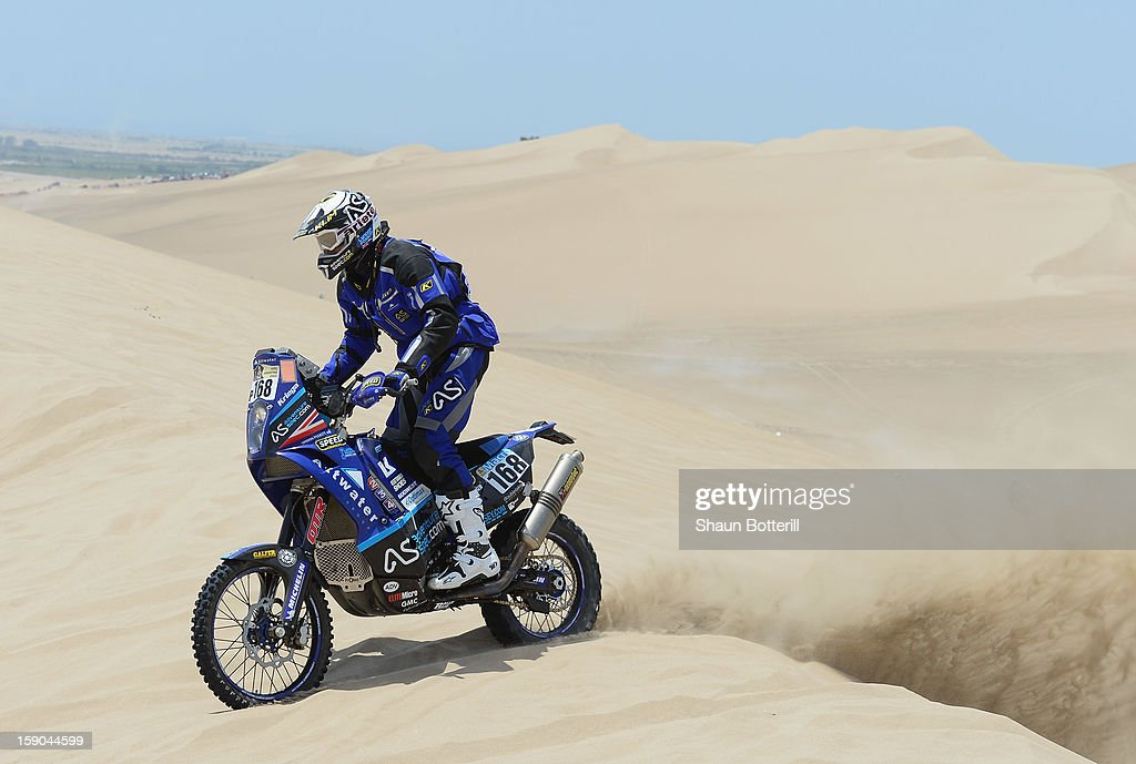 Lyndon Poskitt of team Front Row GB competes in the special stage on day one of the of the 2013 Dakar Rally on January 5, 2013 in Pisco, Peru.
