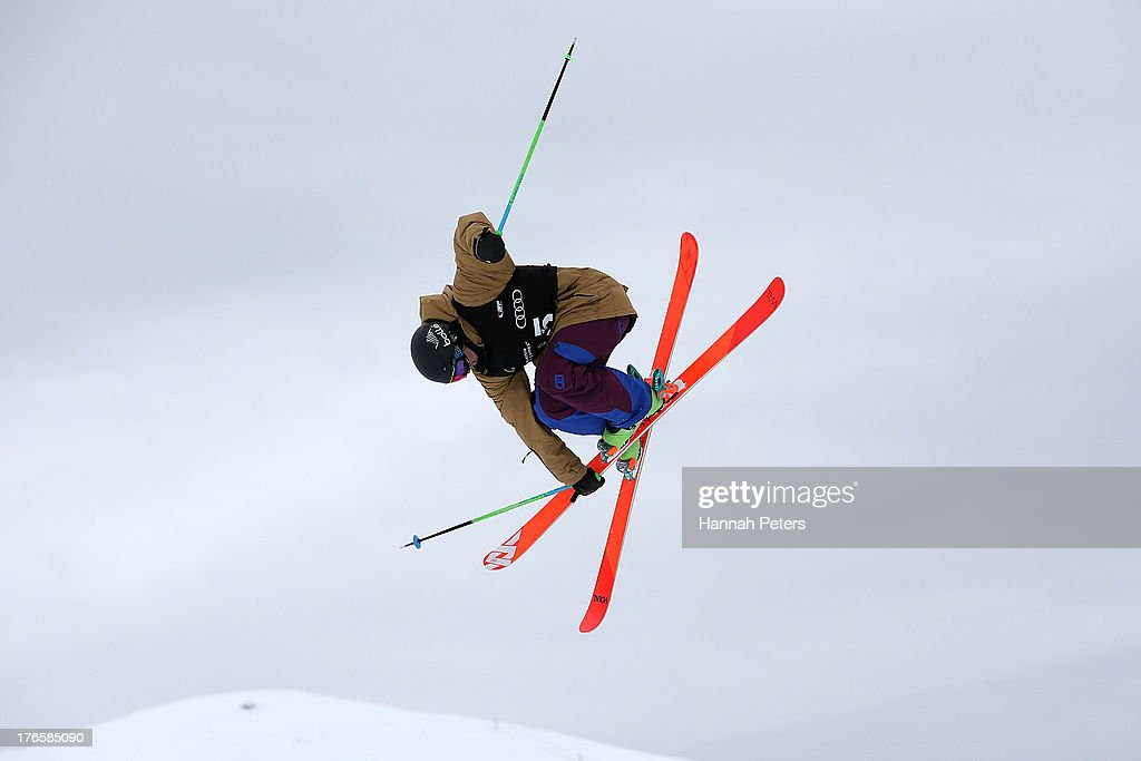 <a gi-track='captionPersonalityLinkClicked' href=/galleries/search?phrase=Lyndon+Sheehan&family=editorial&specificpeople=6217383 ng-click='$event.stopPropagation()'>Lyndon Sheehan</a> of New Zealand competes during qualifying for the FIS Freestyle Ski Halfpipe World Cup during day two of the Winter Games NZ at Cardrona Alpine Resort on August 16, 2013 in Wanaka, New Zealand.