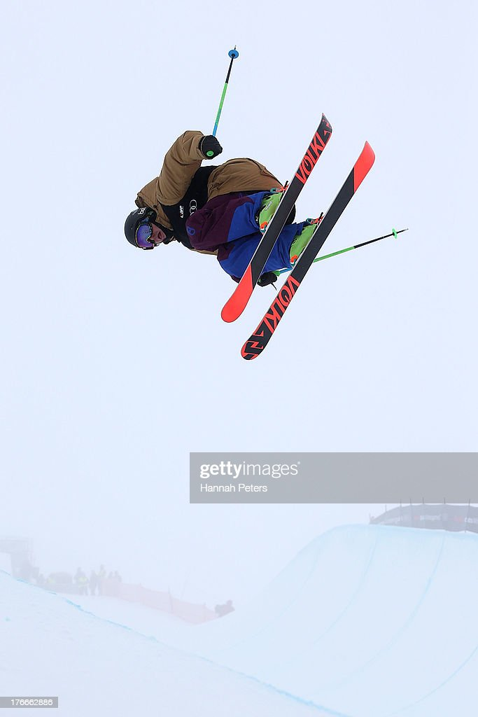 <a gi-track='captionPersonalityLinkClicked' href=/galleries/search?phrase=Lyndon+Sheehan&family=editorial&specificpeople=6217383 ng-click='$event.stopPropagation()'>Lyndon Sheehan</a> of New Zealand competes during the FIS Freestyle Ski Halfpipe World Cup Final during day three of the Winter Games NZ at Cardrona Alpine Resort on August 17, 2013 in Wanaka, New Zealand.