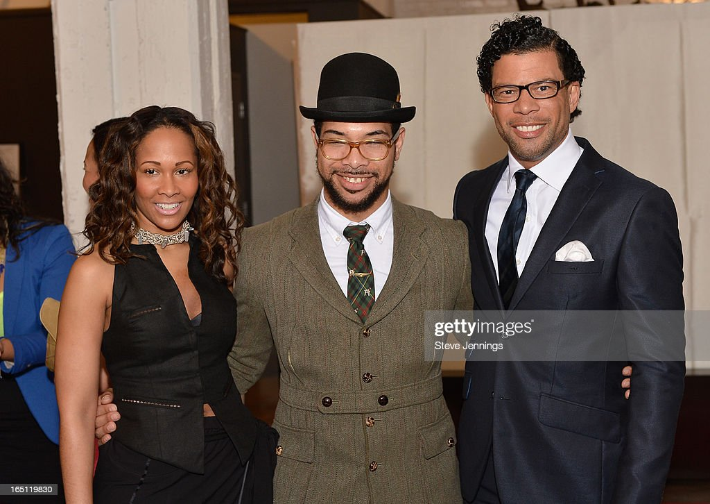 Lyndsey Christian, Dario and Al Reynolds (L-R) attend the 6th Annual 'Where Hip Hop Meets Couture' Fashion Show at Dog Patch Wine Works on March 30, 2013 in San Francisco, California.