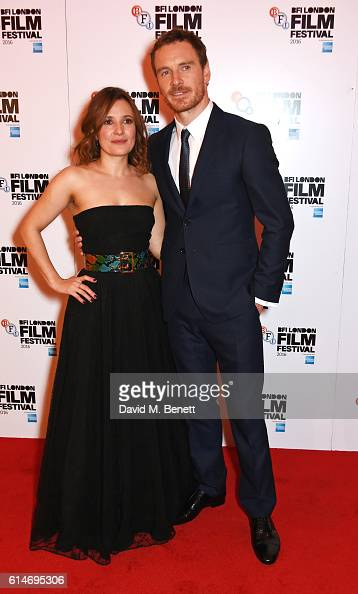 Lyndsey Marshal and Michael Fassbender attend the 'Trespass Against Us' screening during the 60th BFI London Film Festival at Vue West End on October...