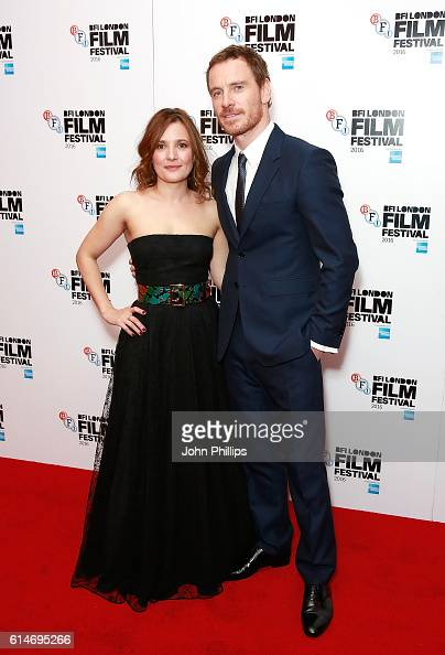 Lyndsey Marshal and Michael Fassbender attend 'Trespass Against Us' screening during the 60th BFI London Film Festival at Haymarket Cinema on October...