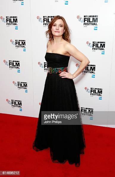 Lyndsey Marshal attends 'Trespass Against Us' screening during the 60th BFI London Film Festival at Haymarket Cinema on October 14 2016 in London...