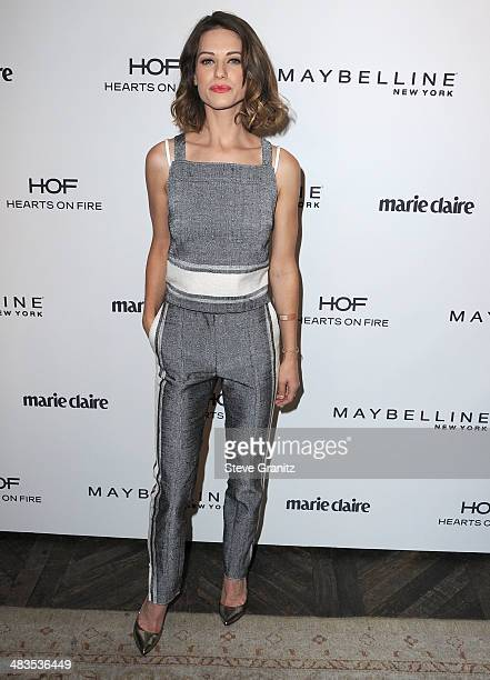 Lyndsy Fonseca arrives at the Marie Claire's Fresh Faces Party at Soho House on April 8 2014 in West Hollywood California