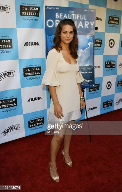 Lyndsy Fonseca during 2007 Los Angeles Film Festival 'The Beautiful Ordinary' Arrivals at Landmark's Regent Theater in Westwood Calfornia United...