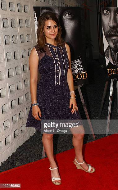 Lyndsy Fonseca during Los Angeles Premiere of HBO's 'Deadwood' Season 3 Arrivals at The Cinerama Dome in Hollywood California United States
