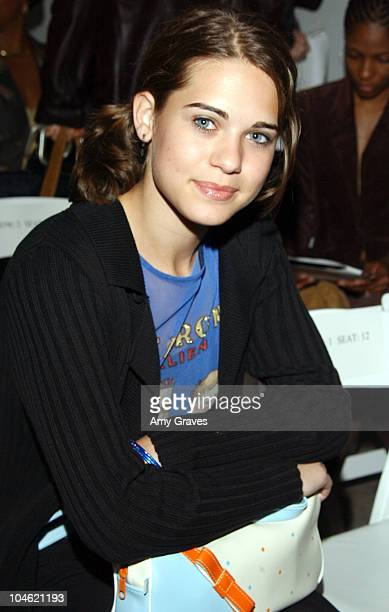 Lyndsy Fonseca during MercedesBenz Shows LA Kevan Hall Front Row at The Standard Downtown LA in Los Angeles California United States