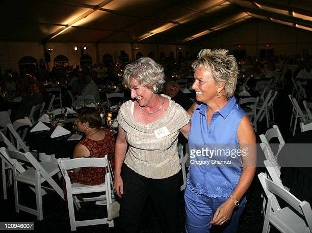 Lynn Bird and Dottie Pepper during LPGA 2004 Wendy's Championship for Children Gordon Teter Memorial ProAm Draw Party in Dublin Ohio United States...