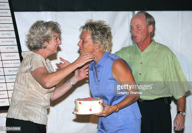 Lynn Bird Dottie Pepper and Don Calhoon during LPGA 2004 Wendy's Championship for Children Gordon Teter Memorial ProAm Draw Party in Dublin Ohio...