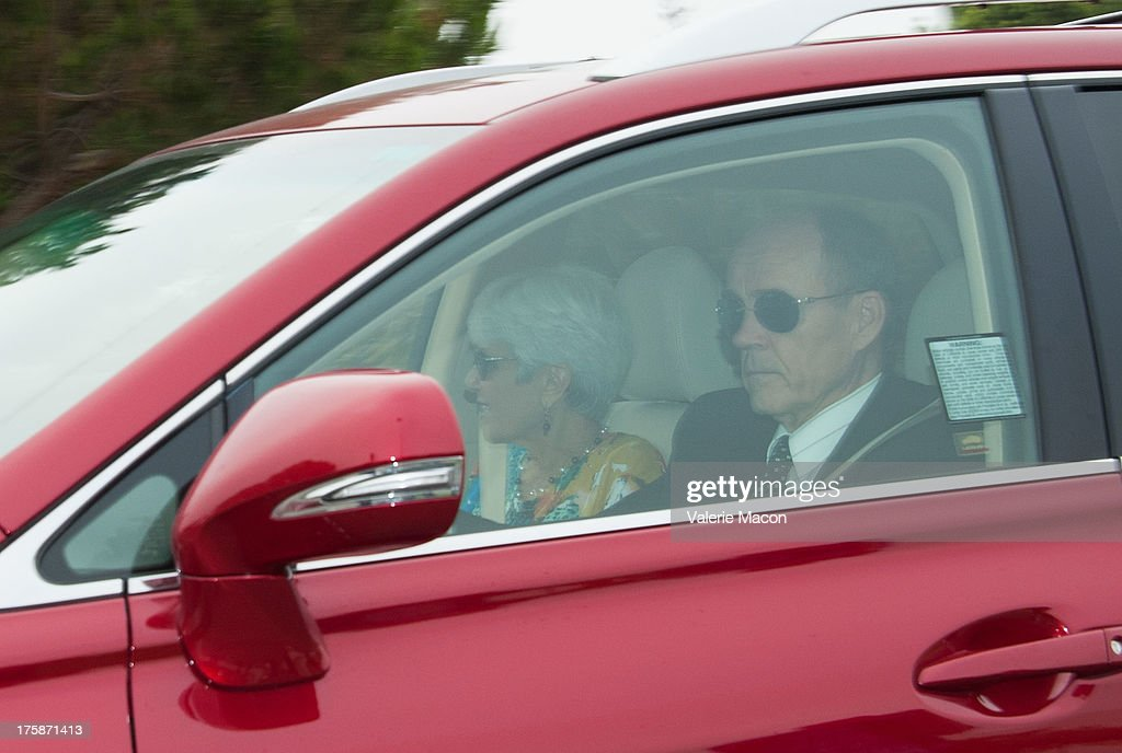 Lynn Bynes and Rick Bynes, Amanda Bynes' parents, arrive for a hearing which granted them temporary conservatorship and extended Bynes hospital stay an additional 30 days for psychological treatment August 9, 2013 at the Ventura Superior Court in Oxnard, California. Amanda Bynes has been hospitalized by court order since July 24 after allegedly starting a fire in the driveway of a private residential property.
