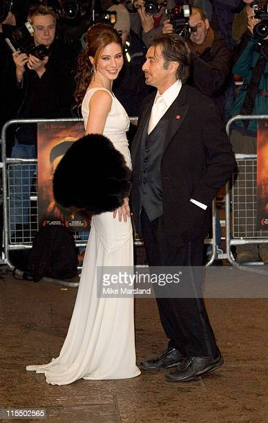 Lynn Collins and Al Pacino during 'The Merchant of Venice' Royal London Premiere at Odeon Leicester Square in London Great Britain