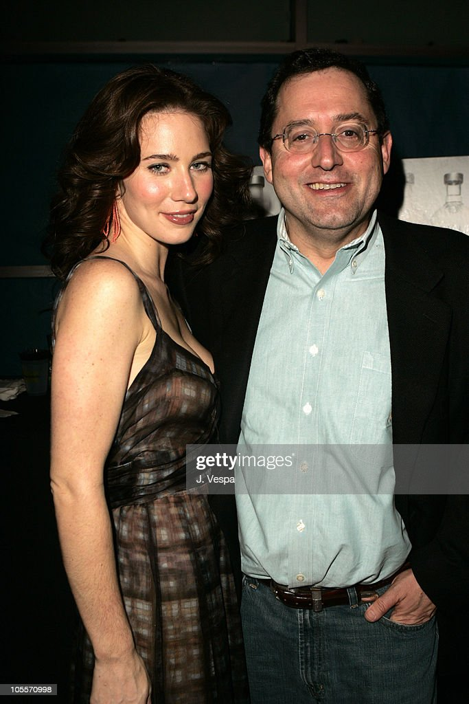 Lynn Collins and Tom Bernard during 2004 AFI Film Festival 'The Merchant of Venice' After Party at The LOFT in Los Angeles California United States