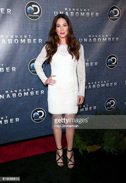 Lynn Collins attends Discovery's 'Manhunt Unabomber' World Premiere at the Appel Room at Jazz at Lincoln Center's Frederick P Rose Hall on July 19...