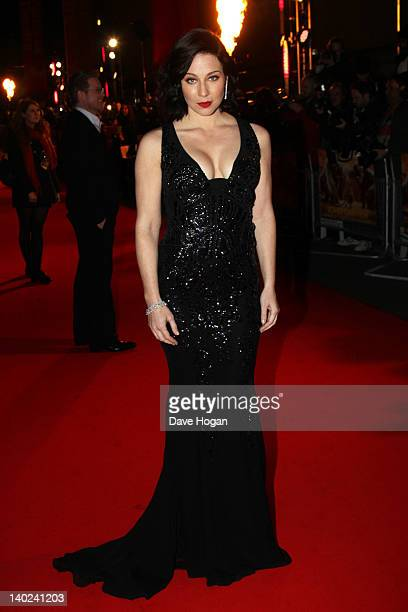 Lynn Collins attends the UK premiere of John Carter at The BFI Southbank on March 1 2012 in London England