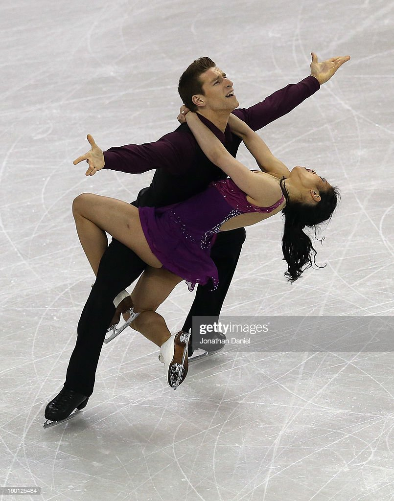 Lynn Kriengkrairut and Logan Giulietti-Schmitt competes in the Pairs Free Dance during the 2013 Prudential U.S. Figure Skating Championships at CenturyLink Center on January 26, 2013 in Omaha, Nebraska.