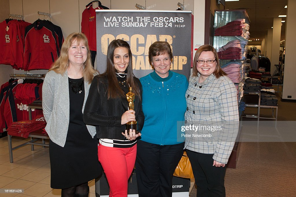 Lynn Rein, Angie Greenup and Leslie Fitzpatrick and Amanda Marti at the JCP at West County Mall during the first-ever Oscar Roadtrip at on February 13, 2013 in St Louis City.